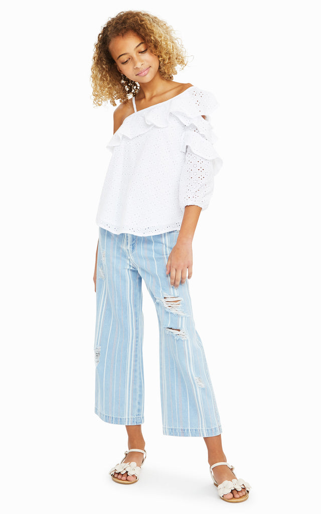 Chloris Printed Wide Leg Crop