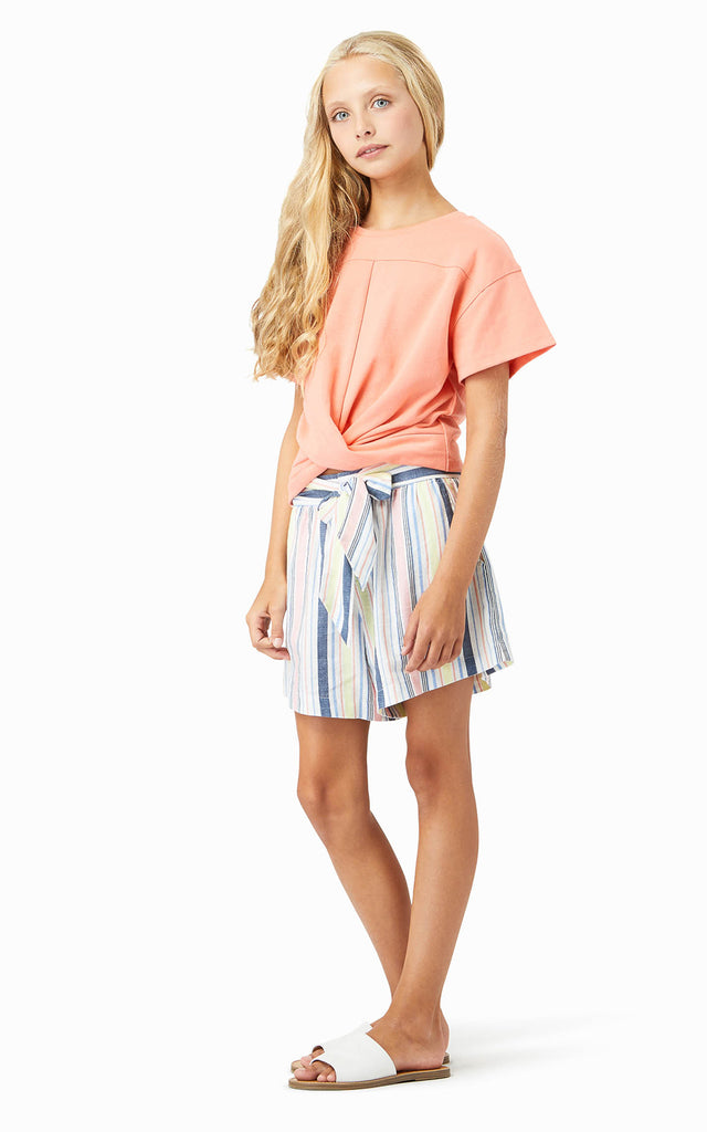 Ellie Bow Stripe Shorts