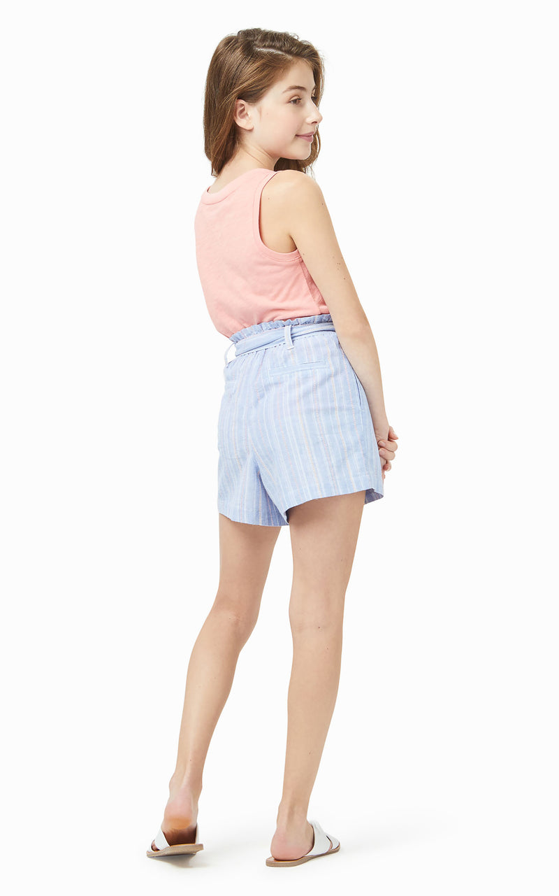 Stripe Pull On Short | 4-6X - Habitual