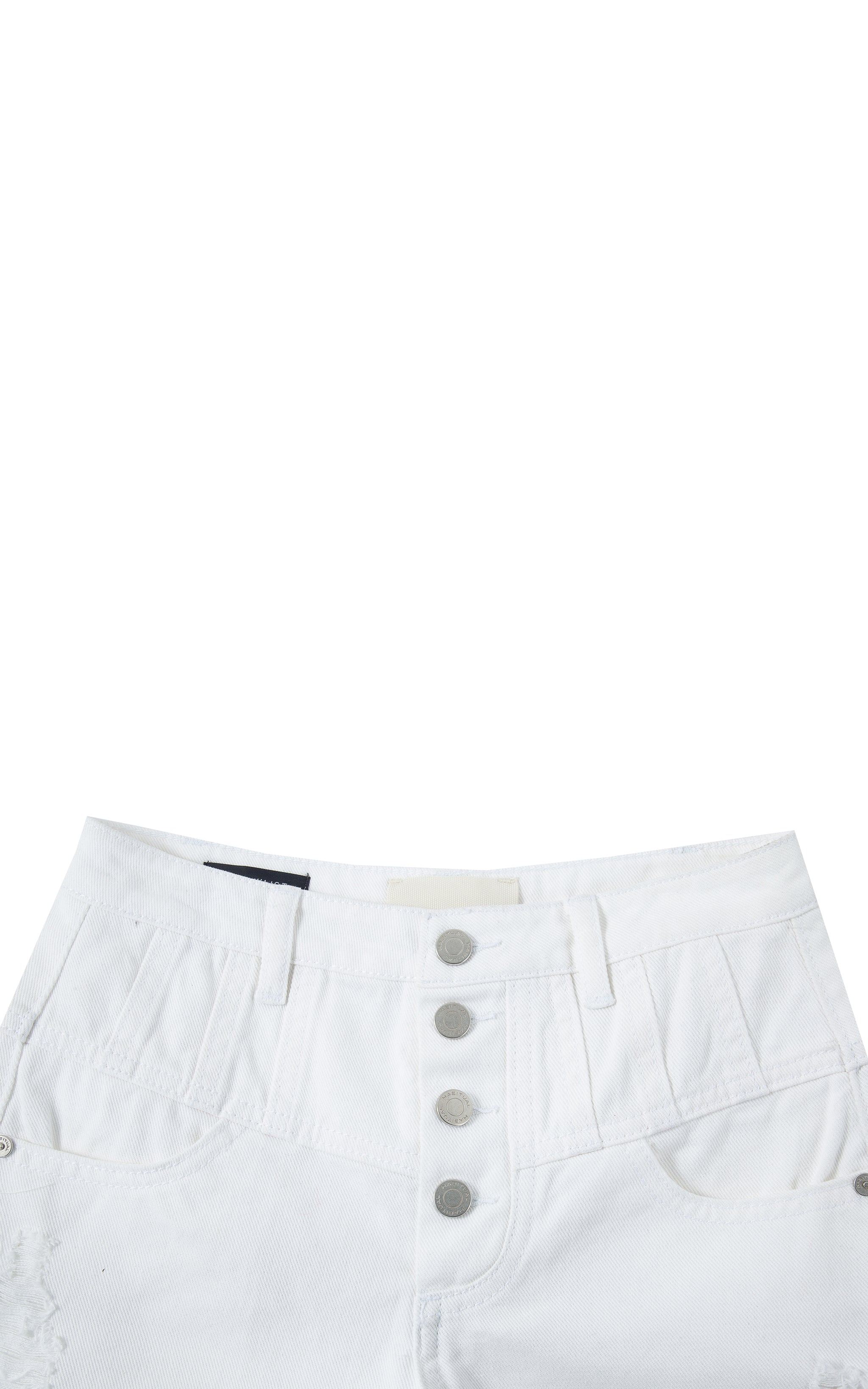 High Waist Button Front Short | 7-16