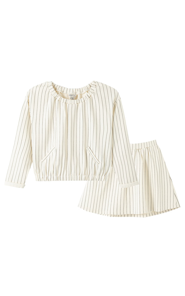 Kiara Stripe Skirt Set | 2T-4T