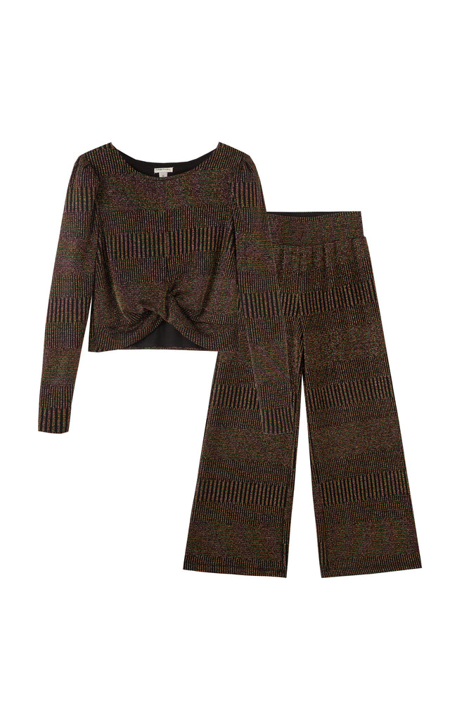 Camille Metallic Knit Pant Set | 7-16