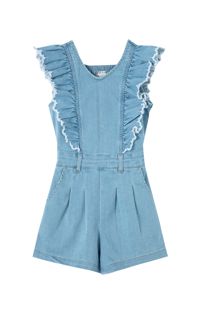 Ruffle Romper with Contrast Edge | 4-6x