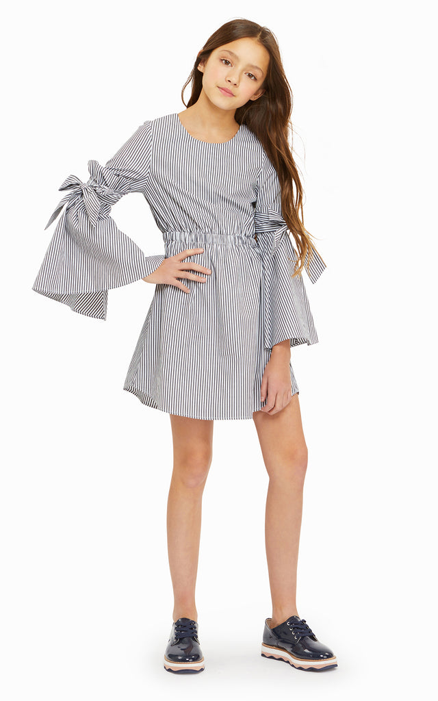 Rosie Bell Sleeve Stripe Dress