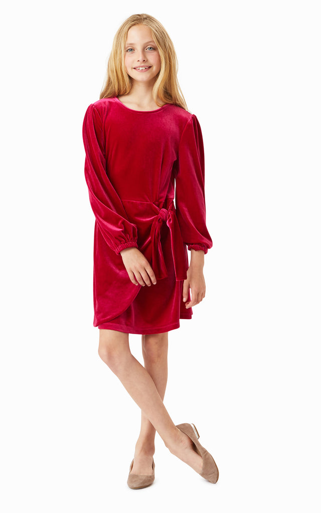 Logan Velour Wrap Dress