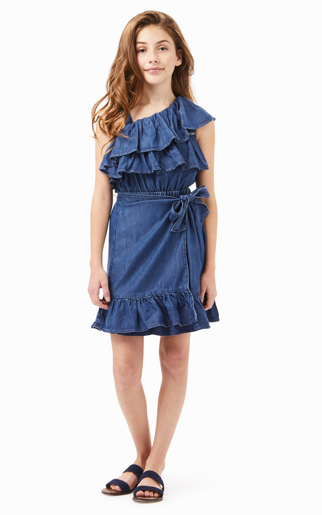 Willa Ruffle Wrap Dress | 7-16