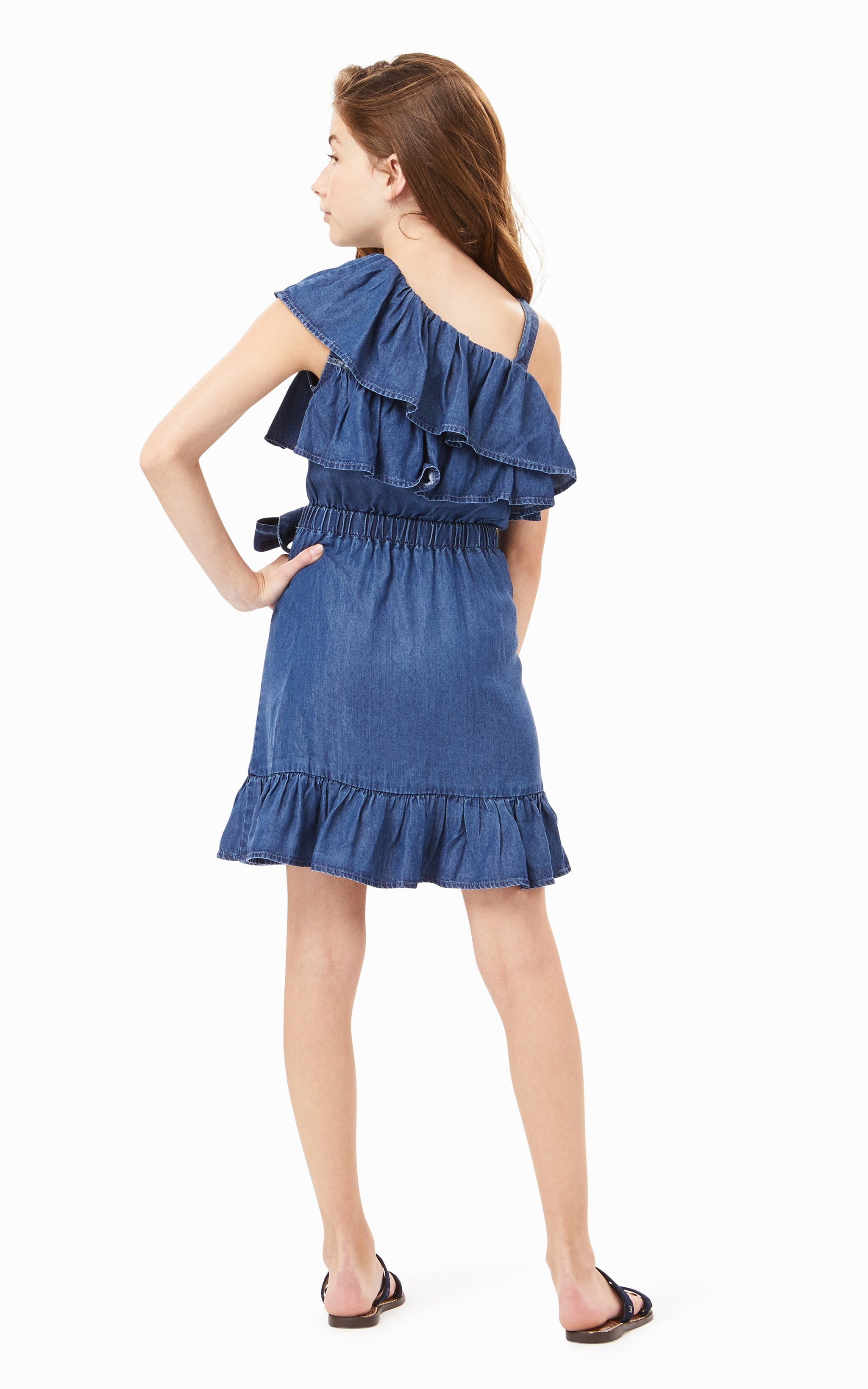 Willa Ruffle Wrap Dress | 7-16 - Habitual