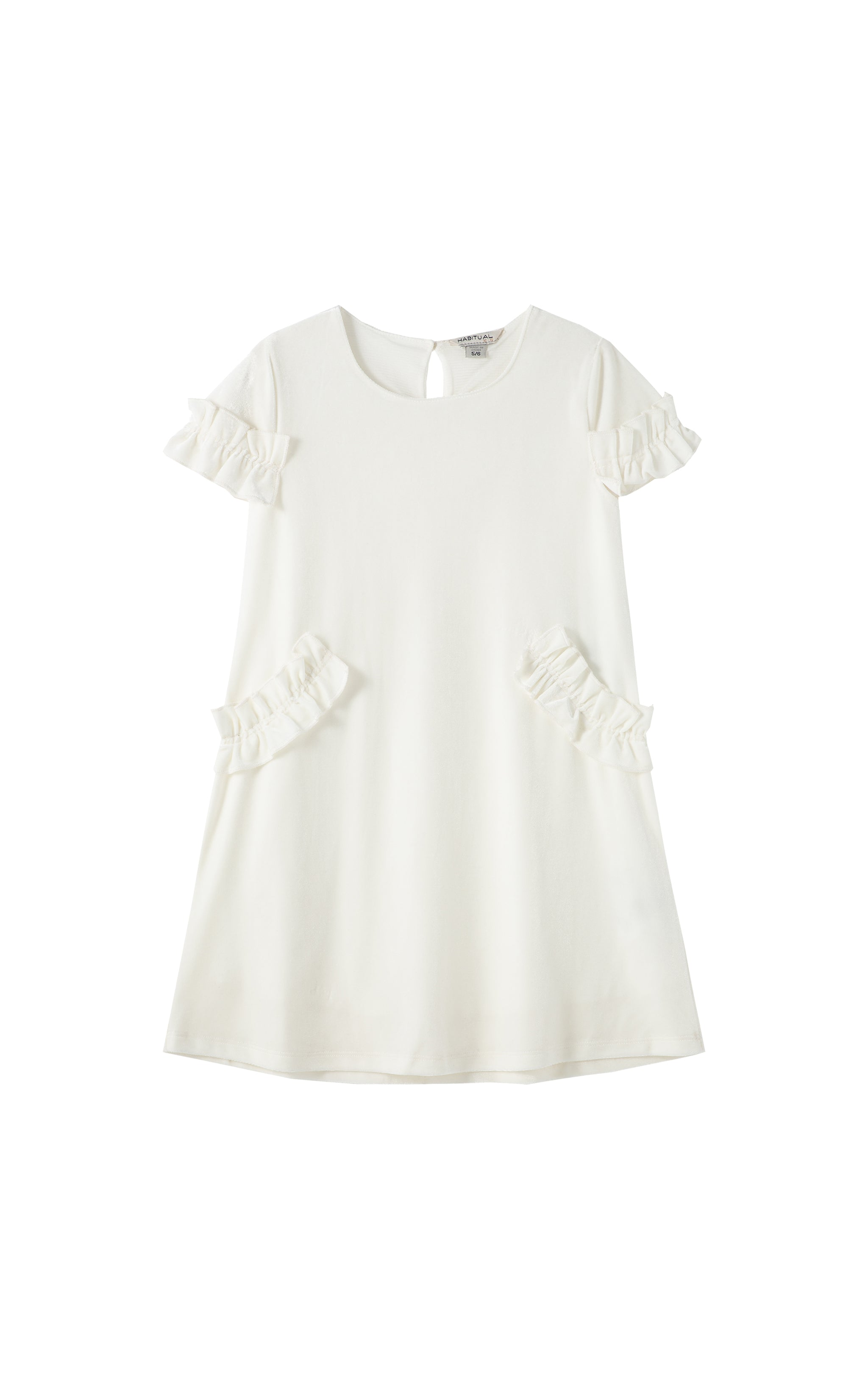 Marilyn Velour Ruffle Dress | 2-4T