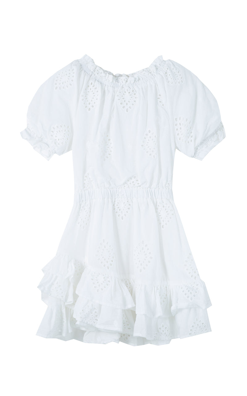 Cotton Allover Eyelet Dress | 2-4T