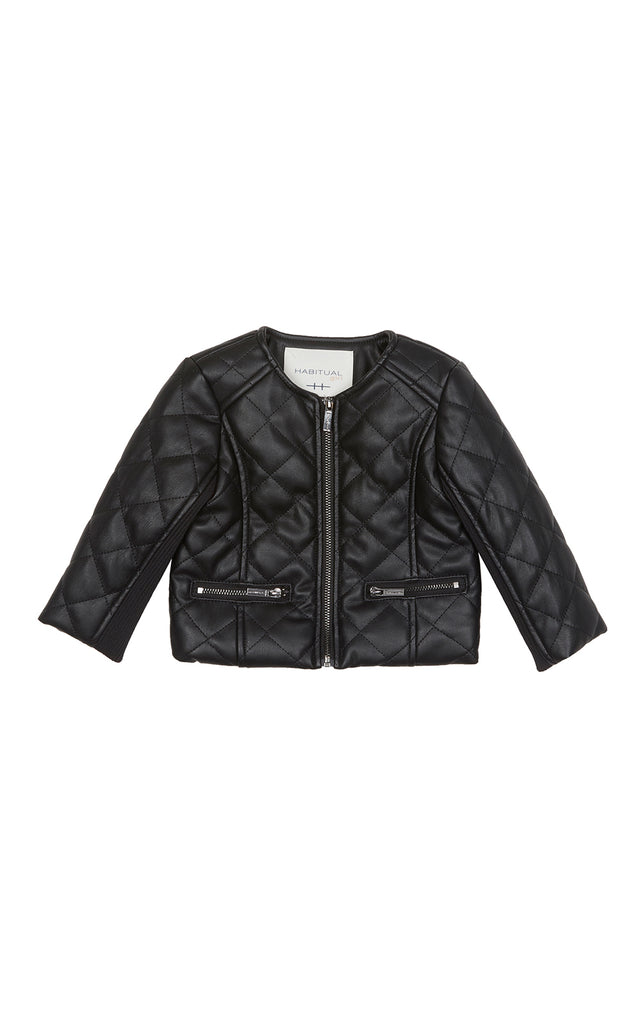 Jade Faux Leather Quilted Jacket