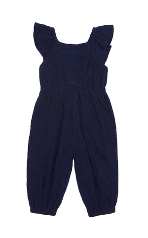 Charley Eyelet Jumpsuit | 2T-4T - Habitual