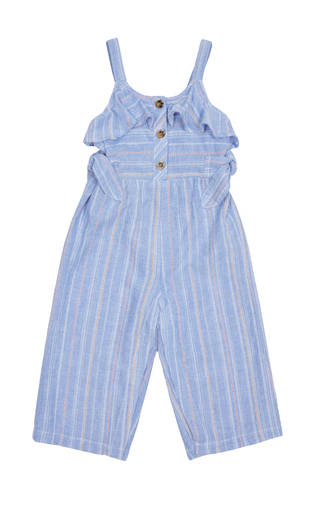Stripe Jumpsuit with Ties | 4-6X