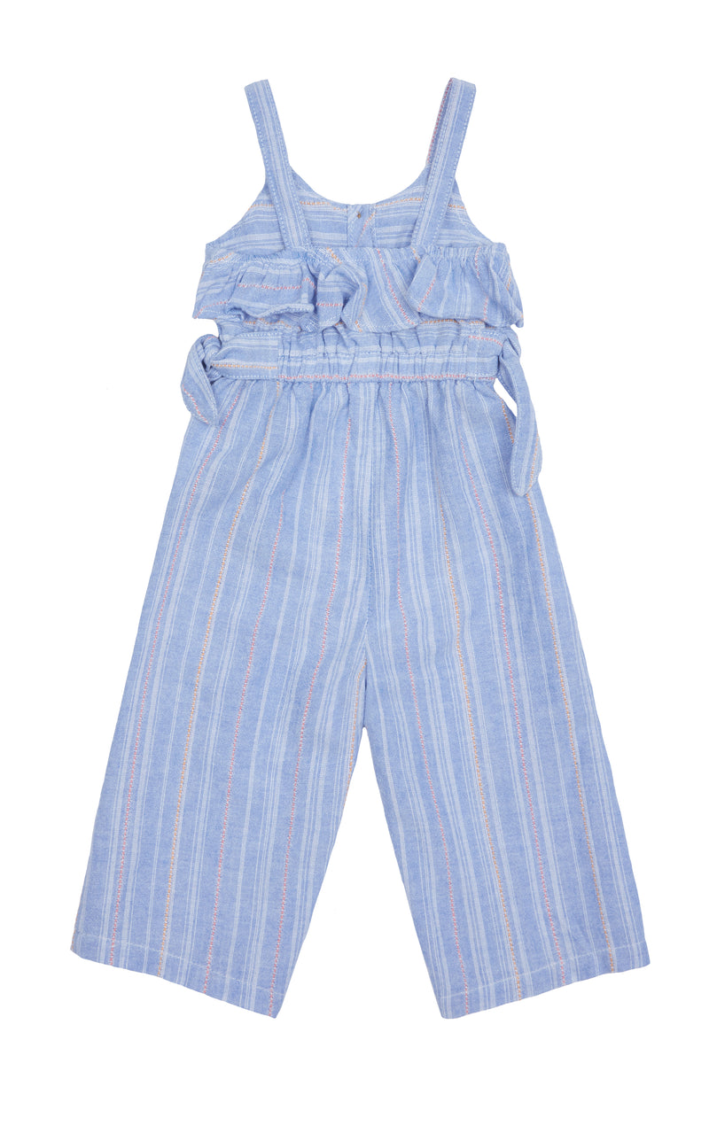 Stripe Jumpsuit with Ties | 4-6X - Habitual