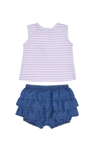 Rosi Stripe Twist Top Set - Habitual