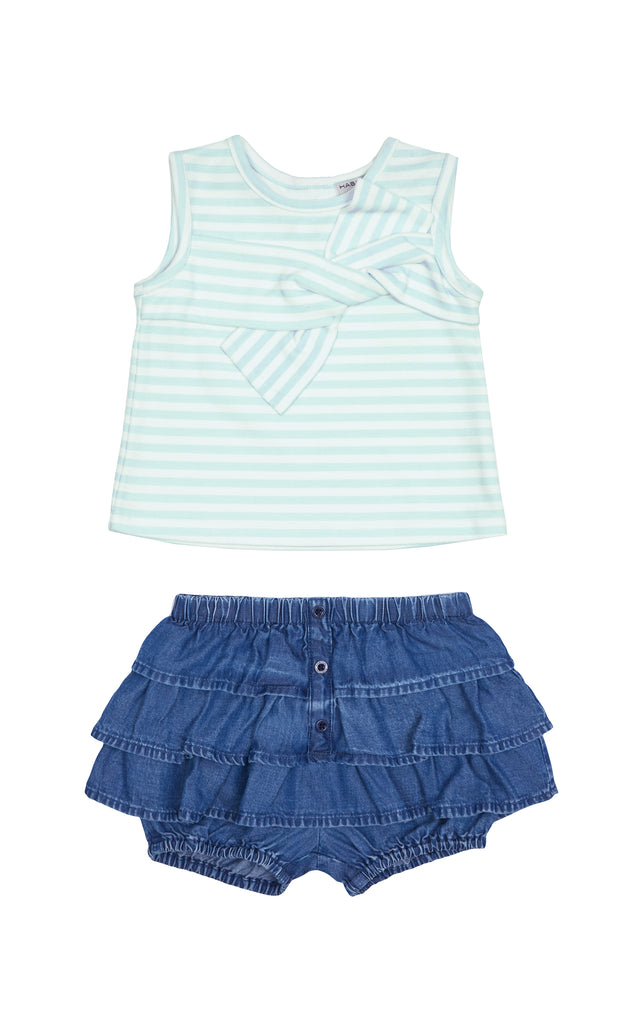 Rosi Stripe Twist Top Set | 2T-4T