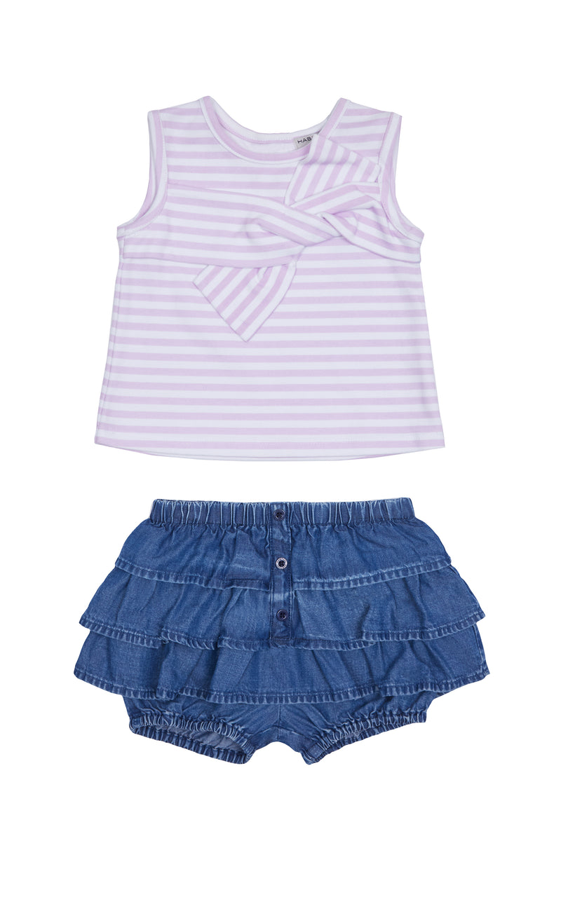 Rosi Stripe Twist Top Set | 2T-4T - Habitual
