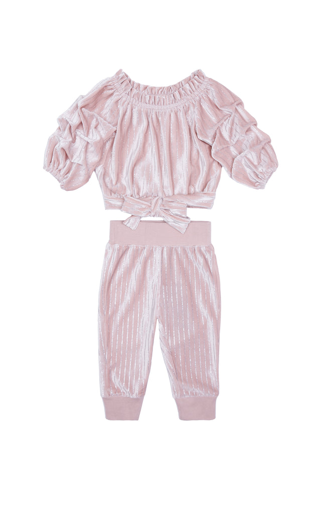 Skye Stripe Velour Set
