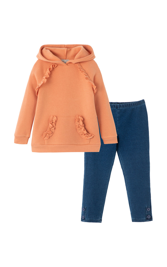Colette Ruffle Hoodie Set | 2-4T