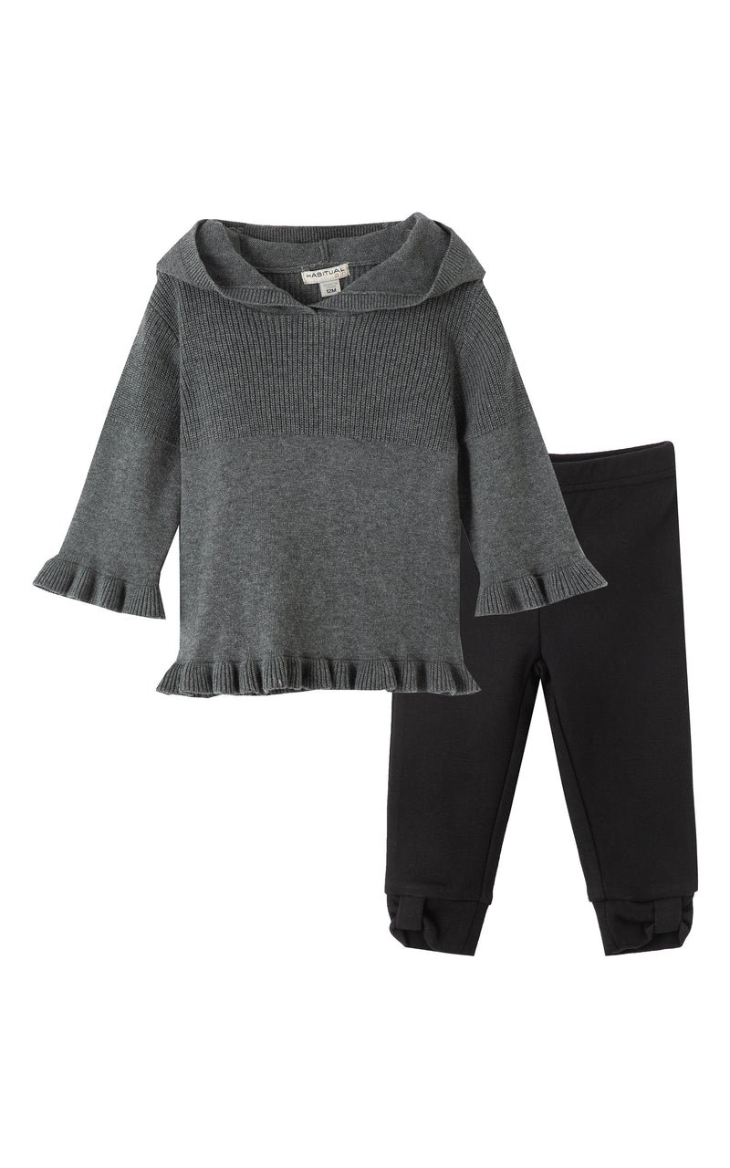 Madison Ruffle Sweater Set | 2T-4T - Habitual