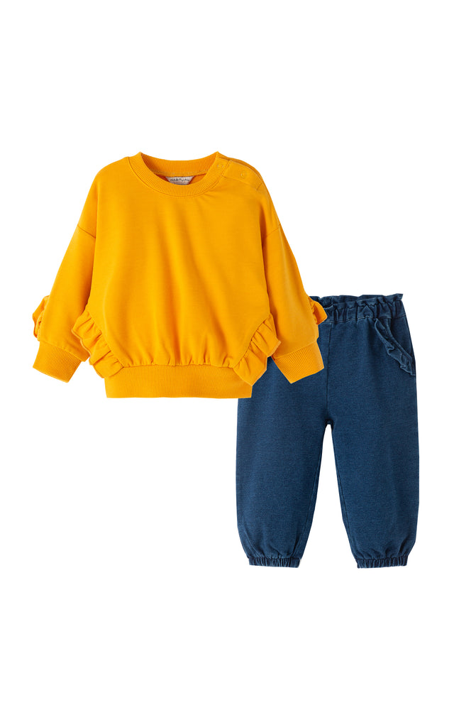 Ryver Ruffle Pullover Pant Set | 12-24M