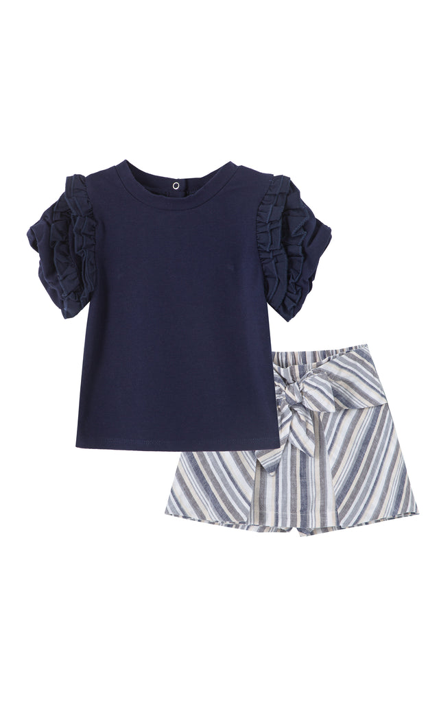 Sabrina Pleated Top Short Set | 12-24M
