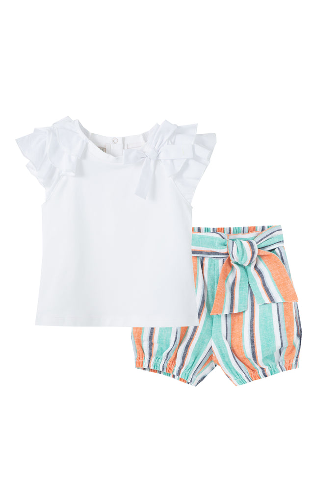 Ruffle 2 Pc Short Set | 12-24M