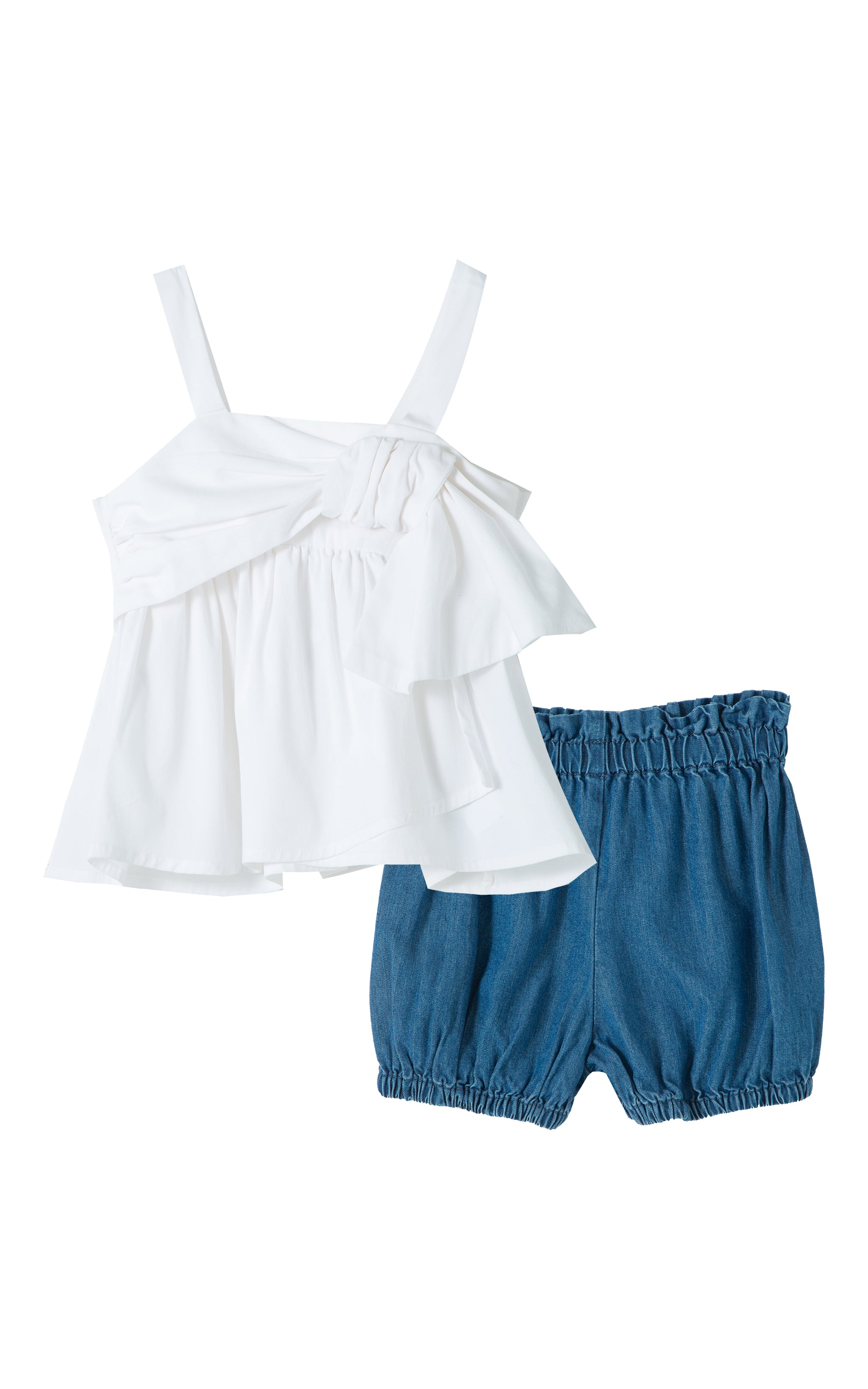 Drape Babydoll Short Set | 12-24M