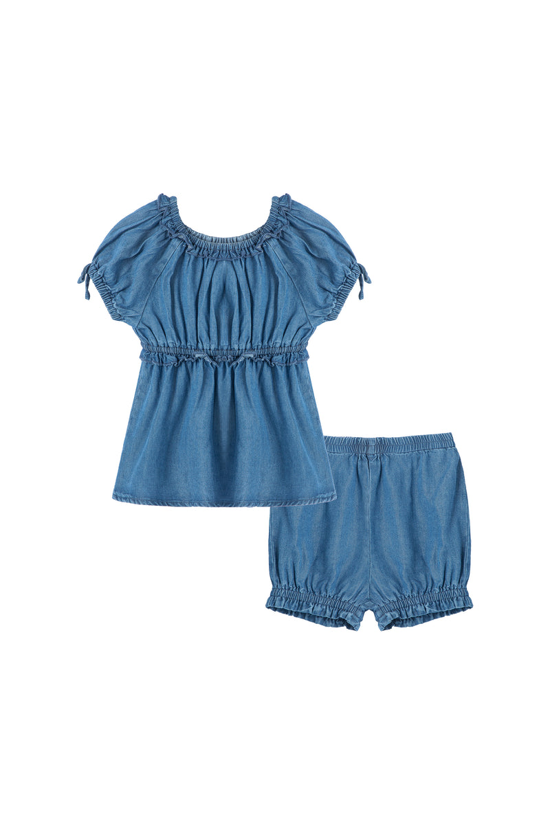 Ruched Top & Short Set | 12-24M