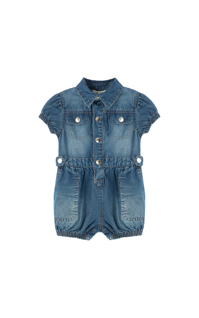 Romper with Patch Pockets  | 12-24M