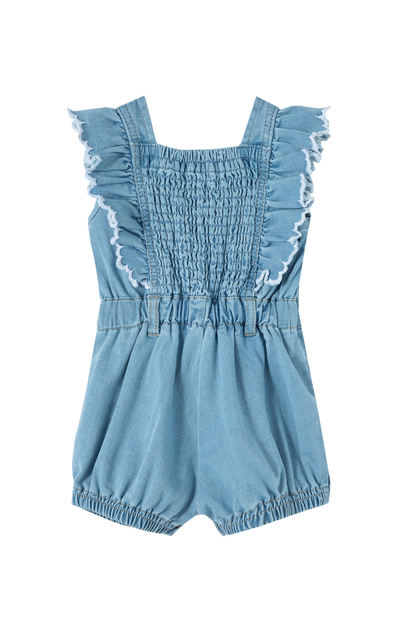 Ruffle Romper with Contrast Edge | 12-24M