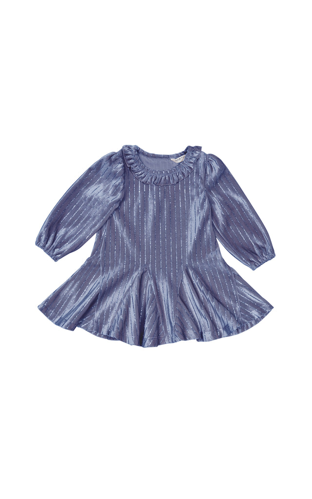 Saylor Stripe Velour Dress