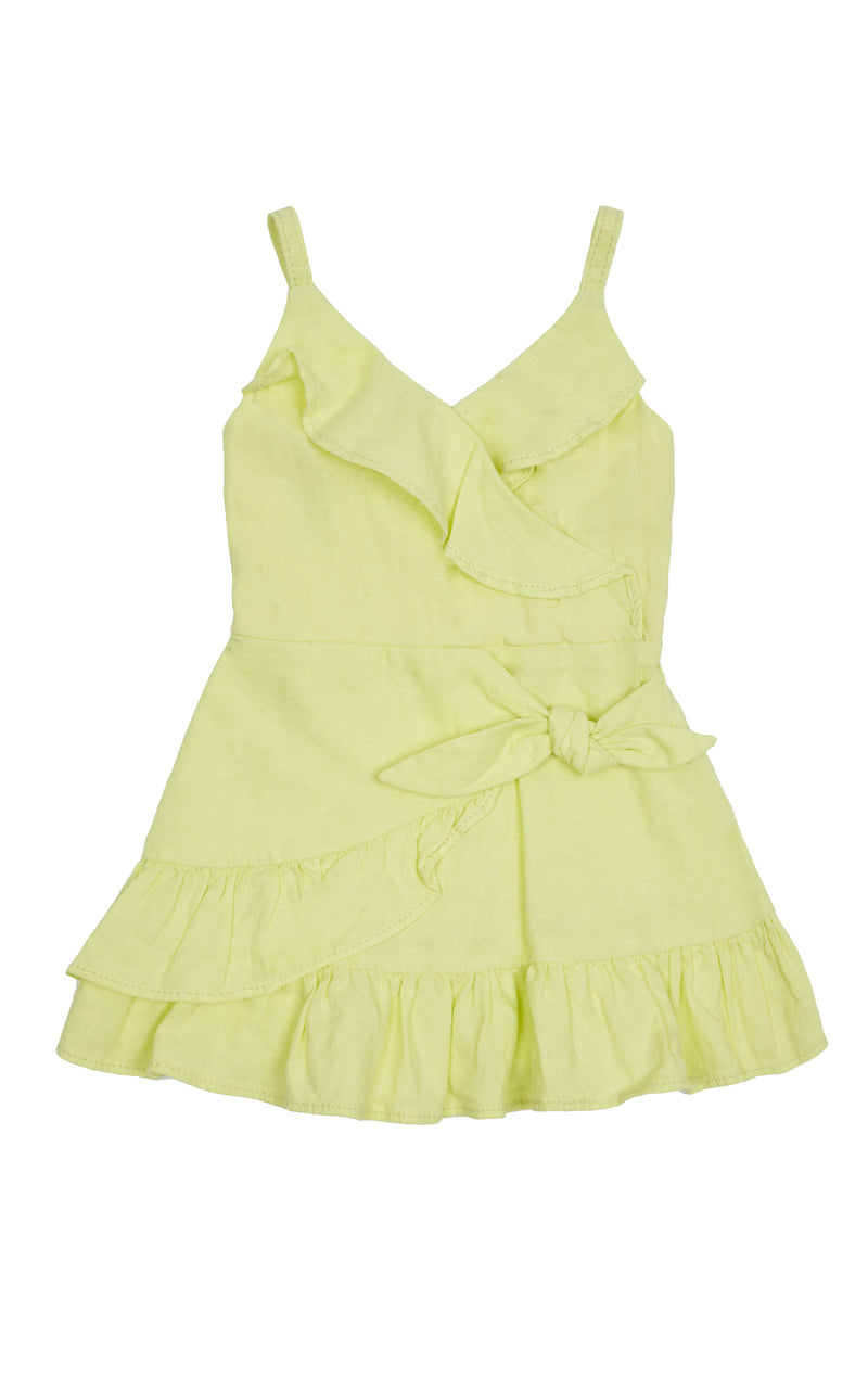 Celeste Ruffle Wrap Dress | 2T-4T - Habitual