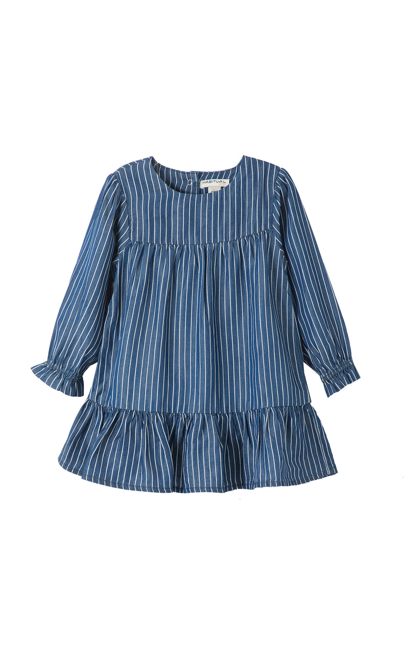 Briellah Long Sleeve Tiered Dress  | 2-4T
