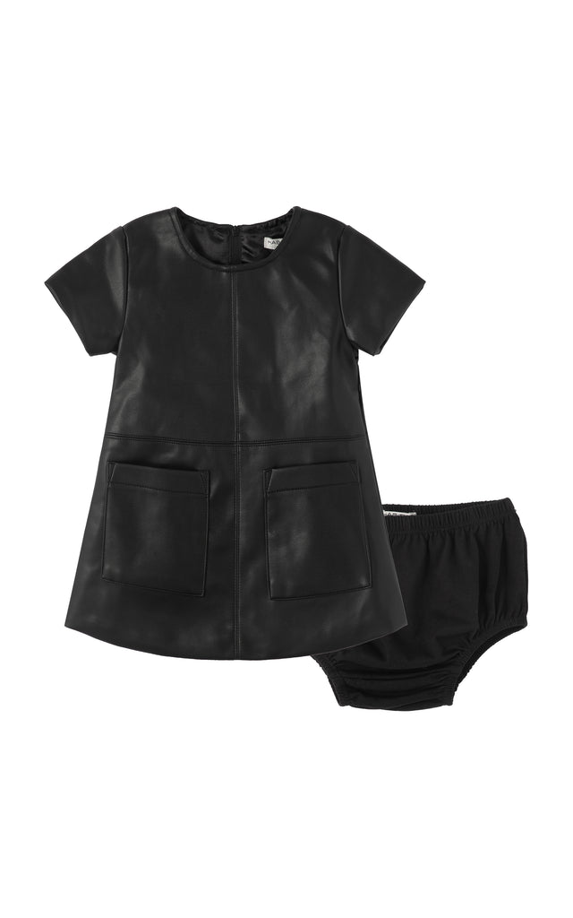 Maeson Faux Leather Dress | 12-24M