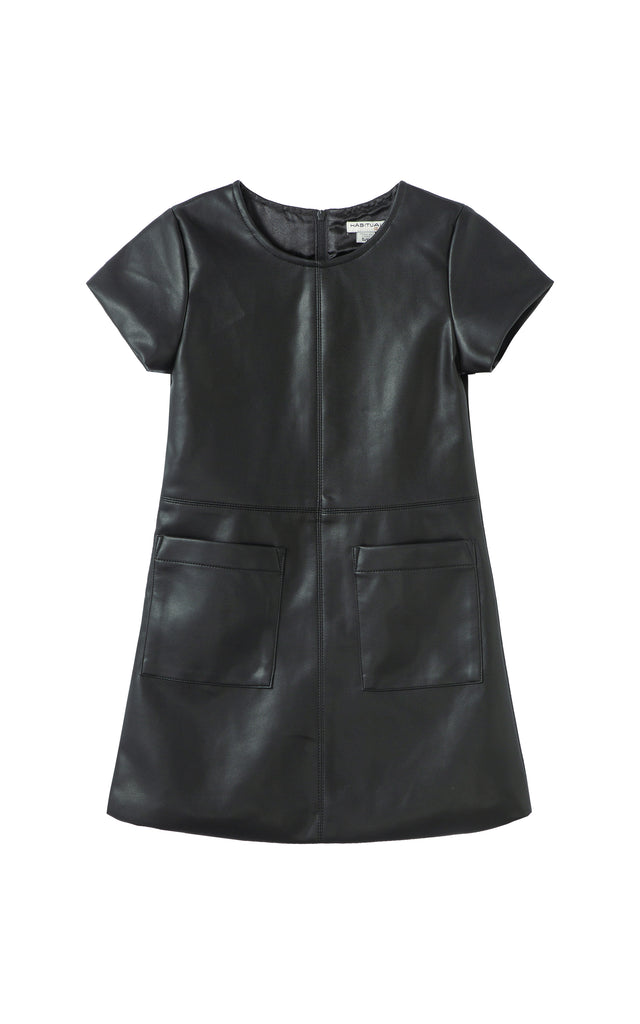 Maeson Faux Leather Dress | 4-6X