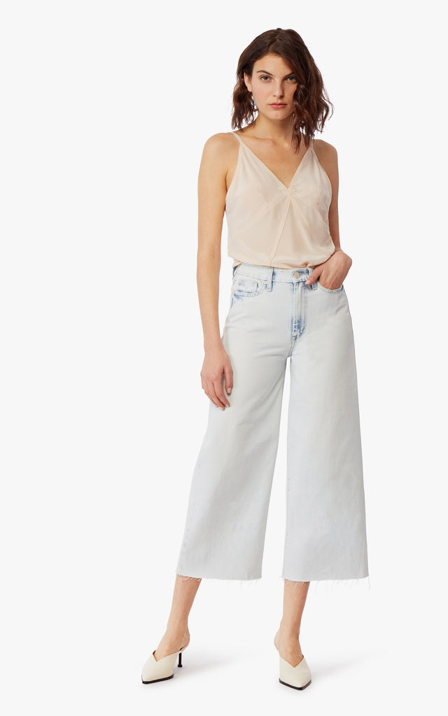 Jetti High-Rise Cut-Off Wide Leg Jeans