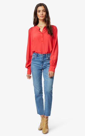 Lilly High-Rise Slim Straight Jeans - Habitual