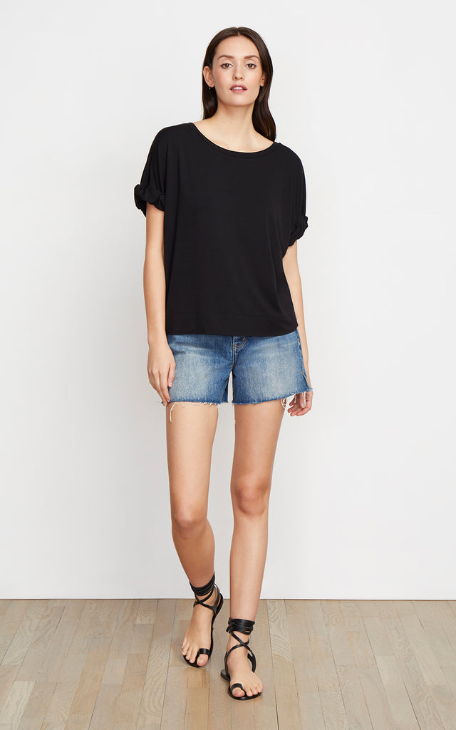 Harper Twist Sleeve Tee