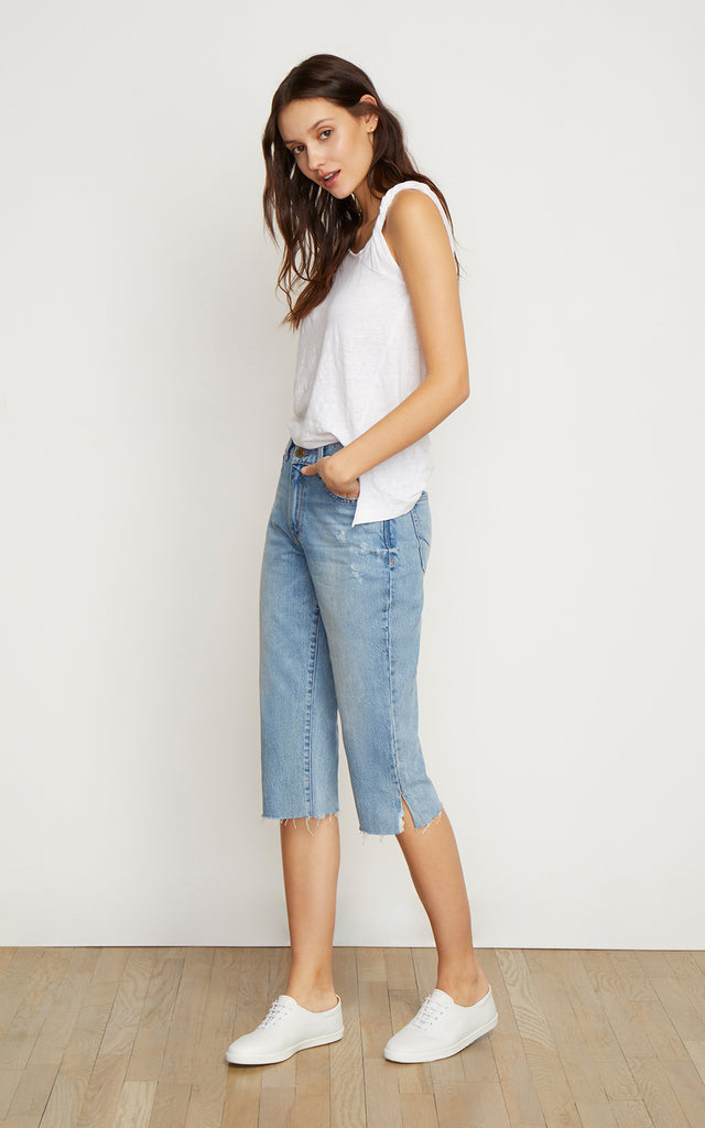 Sionia Mid Rise Straight Crop