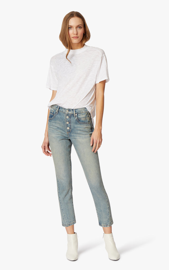 Rosabel High- Rise Slim Straight Jeans