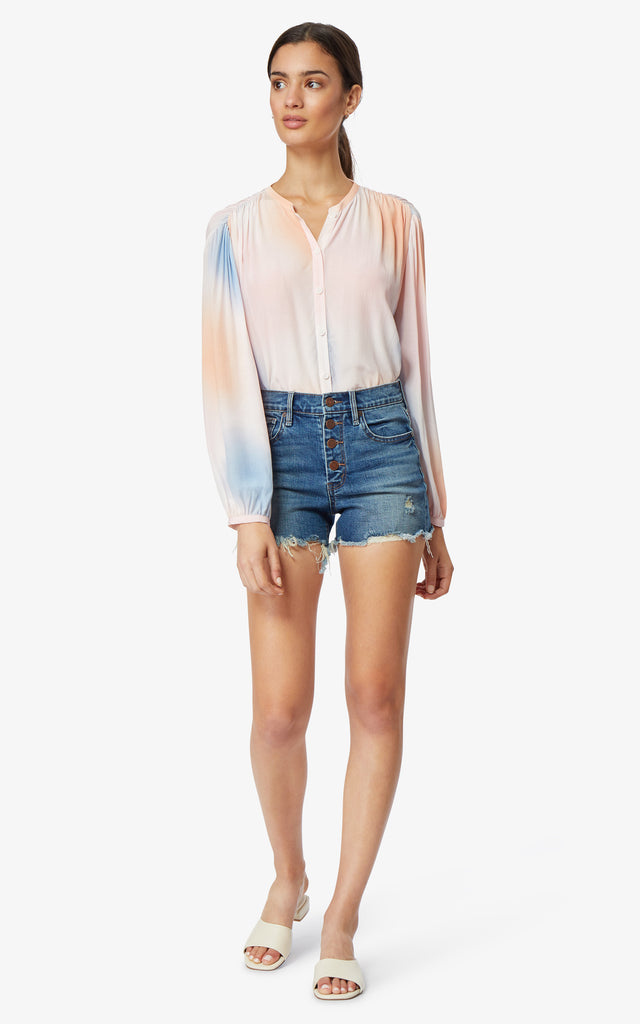 Alana High-Rise Button Shorts