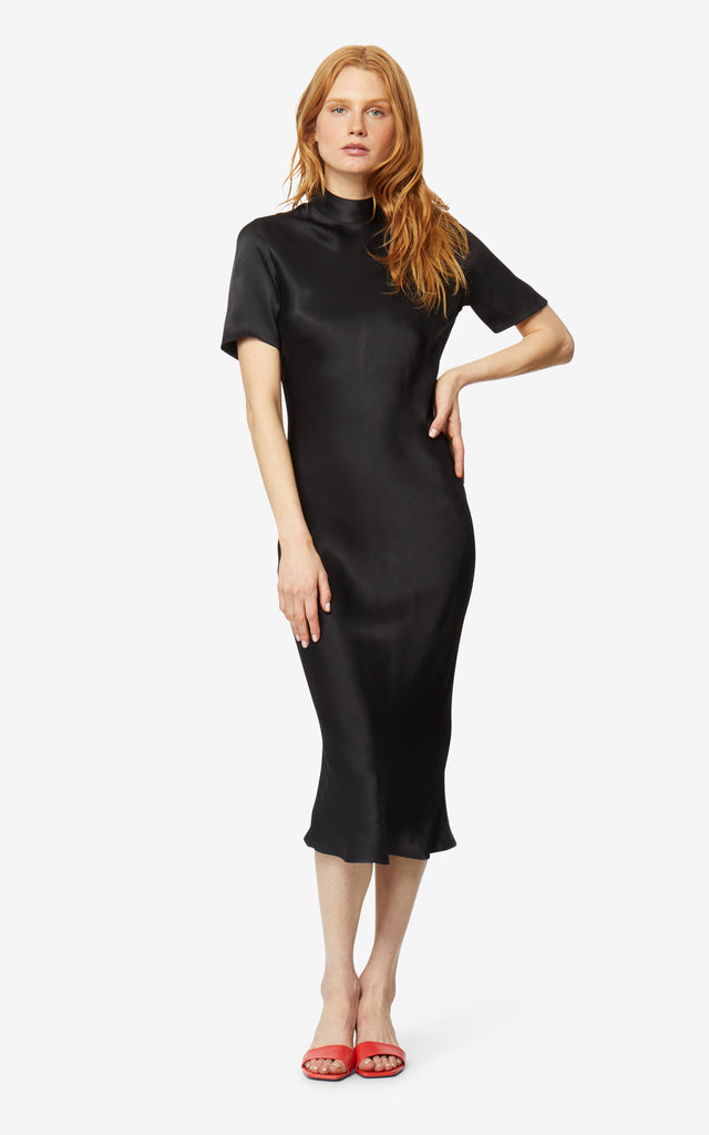 Elton Mock Neck Dress
