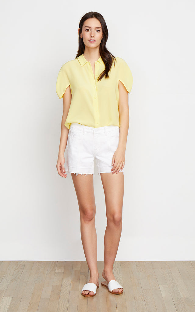 Crosby Mid Rise Release Hem Shorts