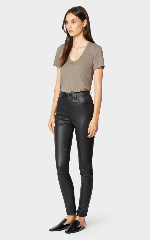 Salena Leather Ankle Skinny