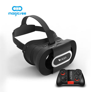 Foldable 3D VR headset with remote for 4.6-7 inch Smartphone