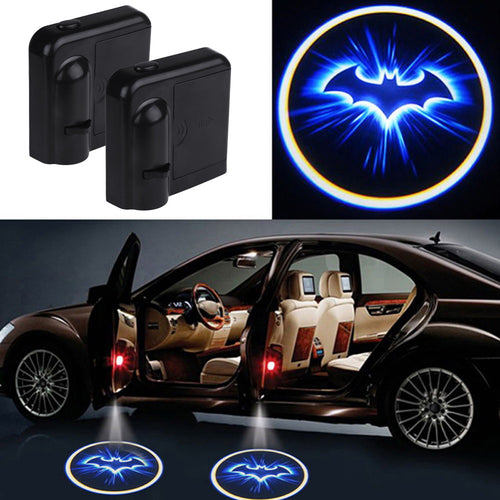 2PC Set LED Car Door Welcome Light Laser Projector Batman Shadow