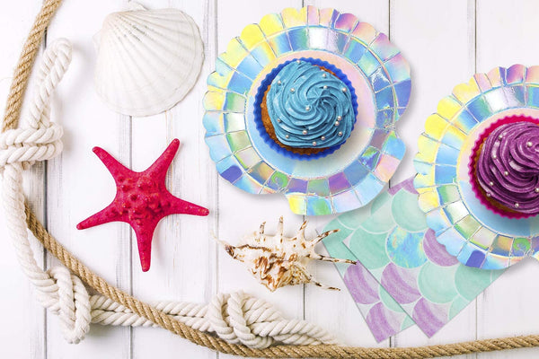 mermaid clamshell party plate