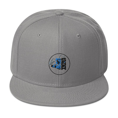 SBR Snapback Hat (gray / white / charcoal)