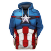 Hoodie Pull Over Captain America Clothes