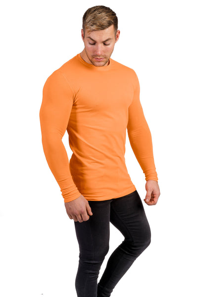 Mens Long Sleeve T-Shirt - Tangerine